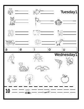 April Monthly Homework- Editable Version