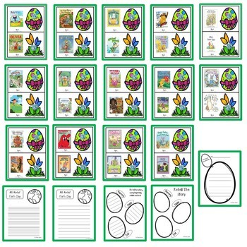 April Listening Centers- QR codes-28 books with comprehension sheets