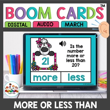 April More or Less Than 10,15 or 20 Boom Cards
