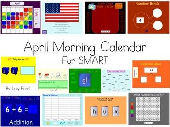 April Morning Calendar SMART