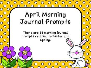 April Morning Journal Prompts