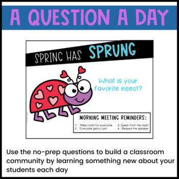 April Morning Meeting -- Question of the Day