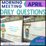 April Morning Meeting Question of the Day