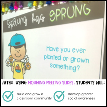 April Morning Meeting Questions