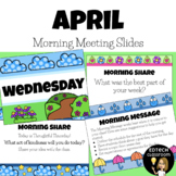 April Morning Meeting Slides | 2021 Distance Learning (Zoo