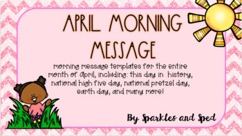April Morning Message