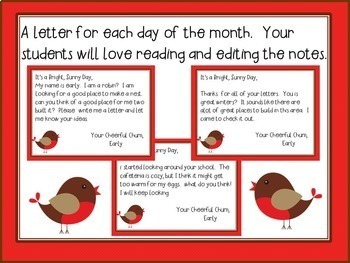 April Morning Message - Works for Traditional and Digital Classrooms!