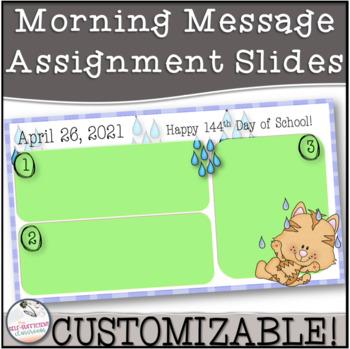 April Morning Message Slides~ EDITABLE!