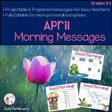 April Morning Messages Projectable and Editable