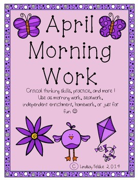 April Morning Work- Critical Thinking