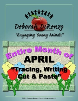 April Morning Work - Entire month of word tracing, writing