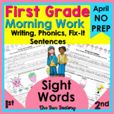 1st Grade Morning Work for April | PRINT and GO