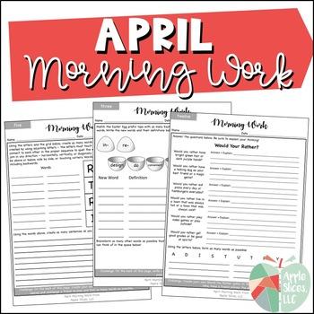 April Morning Work {For Upper Elementary!}
