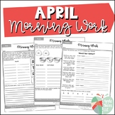 April Morning Work | For Upper Elementary | ELA and Math Review