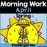 April Morning Work {Kindergarten}