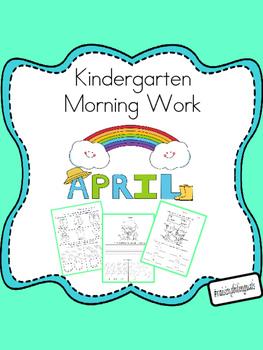 April Morning Work (Kindergarten) FREE