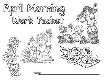 April Morning Work Packet