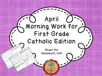 April Morning Work for First Grade Catholic Edition