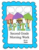 April Morning Work for Second Grade