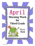 April Morning Work for Third Grade