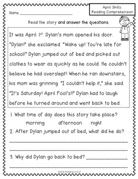 April Printables {Language Arts}