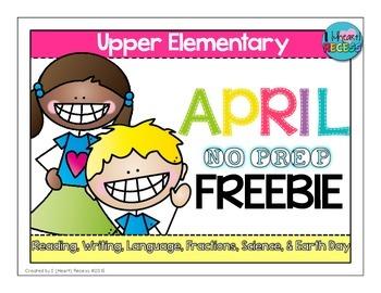 April NO PREP FREEBIE for Upper Grades