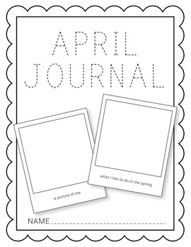 April NO PREP Journal Pages (Early Childhood)