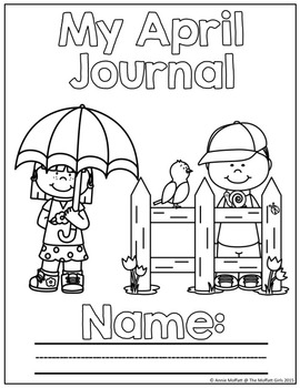 April NO PREP Journal Prompts for Beginning Writers Distance Learning