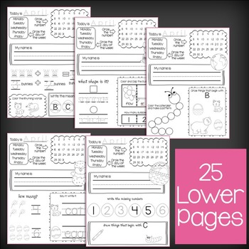 April NO PREP - Morning Work - Literacy & Math - 2 Complete Sets - CCSS & TSG