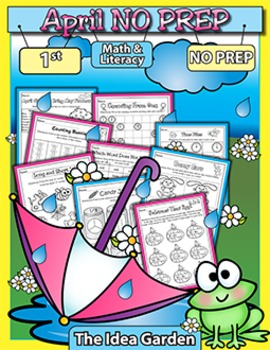 April NO PREP - Math & Literacy (First)