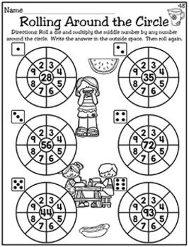 April NO PREP - Math & Literacy (Fourth)