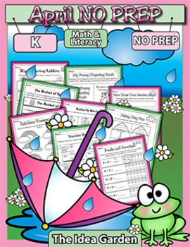 April NO PREP - Math & Literacy (Kindergarten)