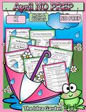April NO PREP - Math & Literacy (Kindergarten)