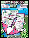 April NO PREP - Math & Literacy (Pre-K)