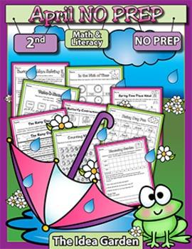 April NO PREP - Math & Literacy (Second)