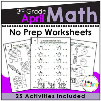 April NO PREP Math Packet - 3rd Grade