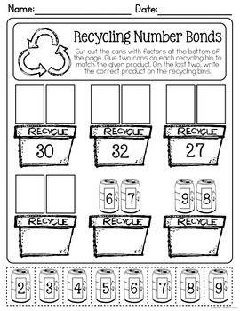April NO PREP Math Printables