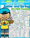 April NO PREP Math and Literacy (2nd Grade)