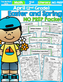 April NO PREP Math and Literacy (2nd Grade) Distance Learning