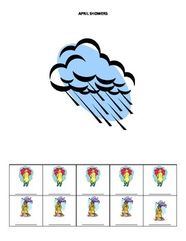 April Name Game for Articulation and Language:  April Showers