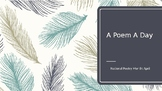 April, National Poetry Month - A Poem a Day