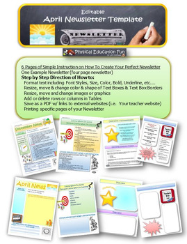 April Newsletter Editable Template