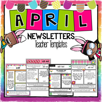 April Newsletter Template ~ Editable