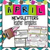 April Newsletter Template ~ Editable