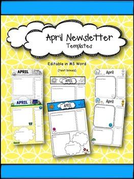 April Newsletter Templates