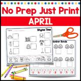April No Prep Just Print