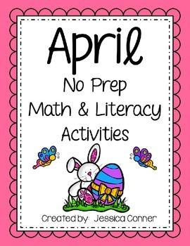 April No Prep Math & Literacy Activities
