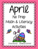 April No Prep Math & Literacy Activities