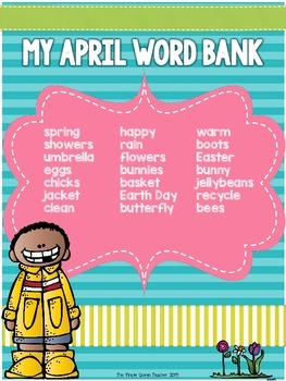 April No Prep Writing: 17 Printables for Spring Daily Five Work on Writing