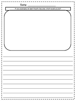 April No Prep Writing Journal for Elementary Writers